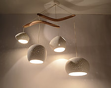 ClayLight Boomerang Extra Large by Sharan Elran, Yael Erel, and Avner Ben Natan (Ceramic Chandelier)