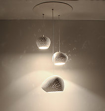 ClayLight Cluster by Sharan Elran, Yael Erel, and Avner Ben Natan (Ceramic Chandelier)