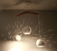ClayLight Three Boomerang by Sharan Elran, Yael Erel, and Avner Ben Natan (Ceramic Chandelier)