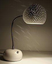 ClayLight Porcupine Desk Lamp by Sharan Elran, Yael Erel, and Avner Ben Natan (Ceramic Table Lamp)