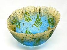 Oak Leaf Vessel Series V by Amanda Taylor (Art Glass Bowl)