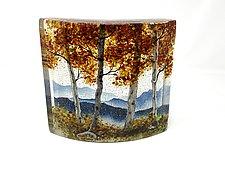 Crimson Mountain Overlook by Amanda Taylor (Art Glass Sculpture)