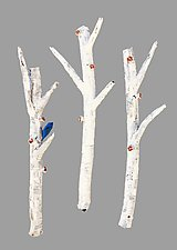 Melody in the Aspen Grove by Amy Meya (Ceramic Sculpture)