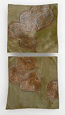 Jungle Leaf Study by Amy Meya (Ceramic Wall Sculpture)