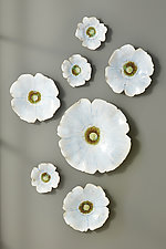 Dogwood Blossoms III by Amy Meya (Ceramic Wall Sculpture)