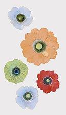 Wall Flowers Arrangement IV by Amy Meya (Ceramic Wall Sculpture)