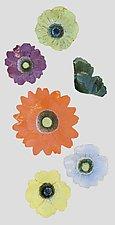 Wall Flowers Arrangement V by Amy Meya (Ceramic Wall Sculpture)