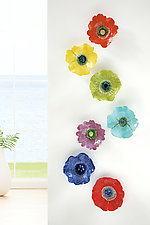 Rainbow Bouquet by Amy Meya (Ceramic Wall Sculpture)