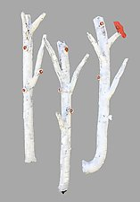 Aspen Woodland Ballad by Amy Meya (Ceramic Wall Sculpture)