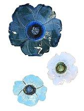 Wall Flowers Arrangement III by Amy Meya (Ceramic Wall Sculpture)