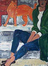 Orange Cat by Elisa Root (Oil Painting)