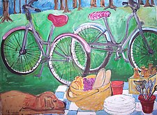 Bicycles by Elisa Root (Oil Painting)