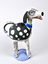 Dog at a Loss by Amy Goldstein-Rice (Ceramic Sculpture)