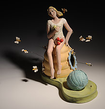The Hum of the Bees Are the Voice of the Garden by Amy Goldstein-Rice (Ceramic Sculpture)