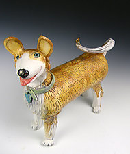 The Queens Pound Puppy by Amy Goldstein-Rice (Ceramic Sculpture)