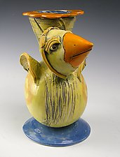 Yellow Chick by Amy Goldstein-Rice (Ceramic Vase)