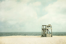 Gray Guard Chair by Pamela Viola (Color Photograph)