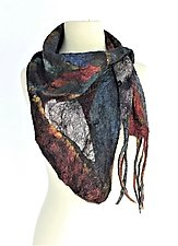 Layla Neck Scarf by Elizabeth Rubidge (Silk & Wool Felted Scarf)