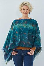 Ella Poncho by Elizabeth Rubidge (Wool Poncho)
