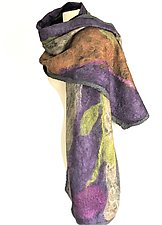 Naomi Wrap by Elizabeth Rubidge (Silk & Wool Felted Wrap)