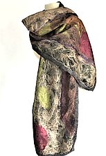 Naomi Wrap II by Elizabeth Rubidge (Silk & Wool Felted Wrap)