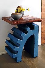 Torque Side Table by Ben Gatski and Kate Gatski (Metal Side Table)