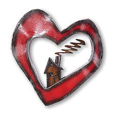Heart and Home by Ben Gatski and Kate Gatski (Metal Wall Sculpture)
