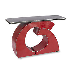 Red Together Console Table by Ben Gatski and Kate Gatski (Metal Console Table)