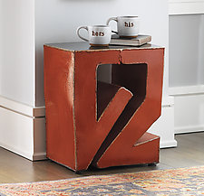 Puzzle Side Table by Ben Gatski and Kate Gatski (Metal Side Table)