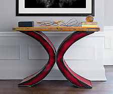 X Console by Ben Gatski and Kate Gatski (Metal Console Table)