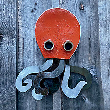 Oslo the Octopus by Ben Gatski and Kate Gatski (Metal Wall Sculpture)