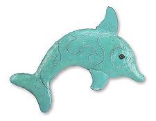 Dolphin by Ben Gatski and Kate Gatski (Metal Wall Sculpture)
