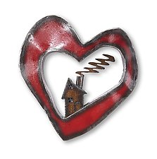 Heart and Home by Ben Gatski and Kate Gatski (Metal Wall Sculpture)