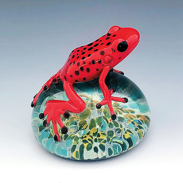 Strawberry Poison Dart Frog Paperweight