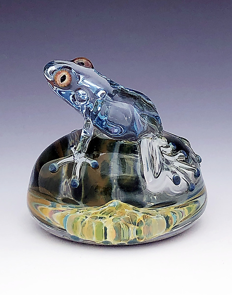 Ice Blue Tree Frog Paperweight
