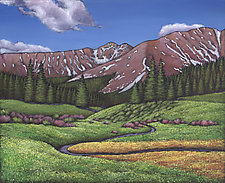 Secluded Meadow by Johnathan  Harris (Acrylic Painting)