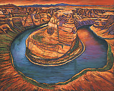 Horseshoe Bend Sunset by Johnathan  Harris (Giclee Print)