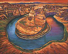 Horseshoe Bend Sunset by Johnathan  Harris (Giclee Print)