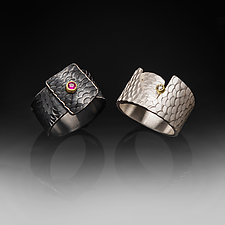Textured Rings by Susan Mahlstedt (Gold, Silver & Stone Rings)