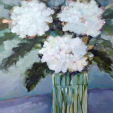 White Hydrangeas by Filomena Booth (Acrylic Painting)