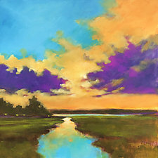 River Sunset II by Filomena Booth (Acrylic Painting)