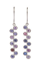 Grapevine Sapphire Earrings by Diana Widman (Gold & Stone Earrings)