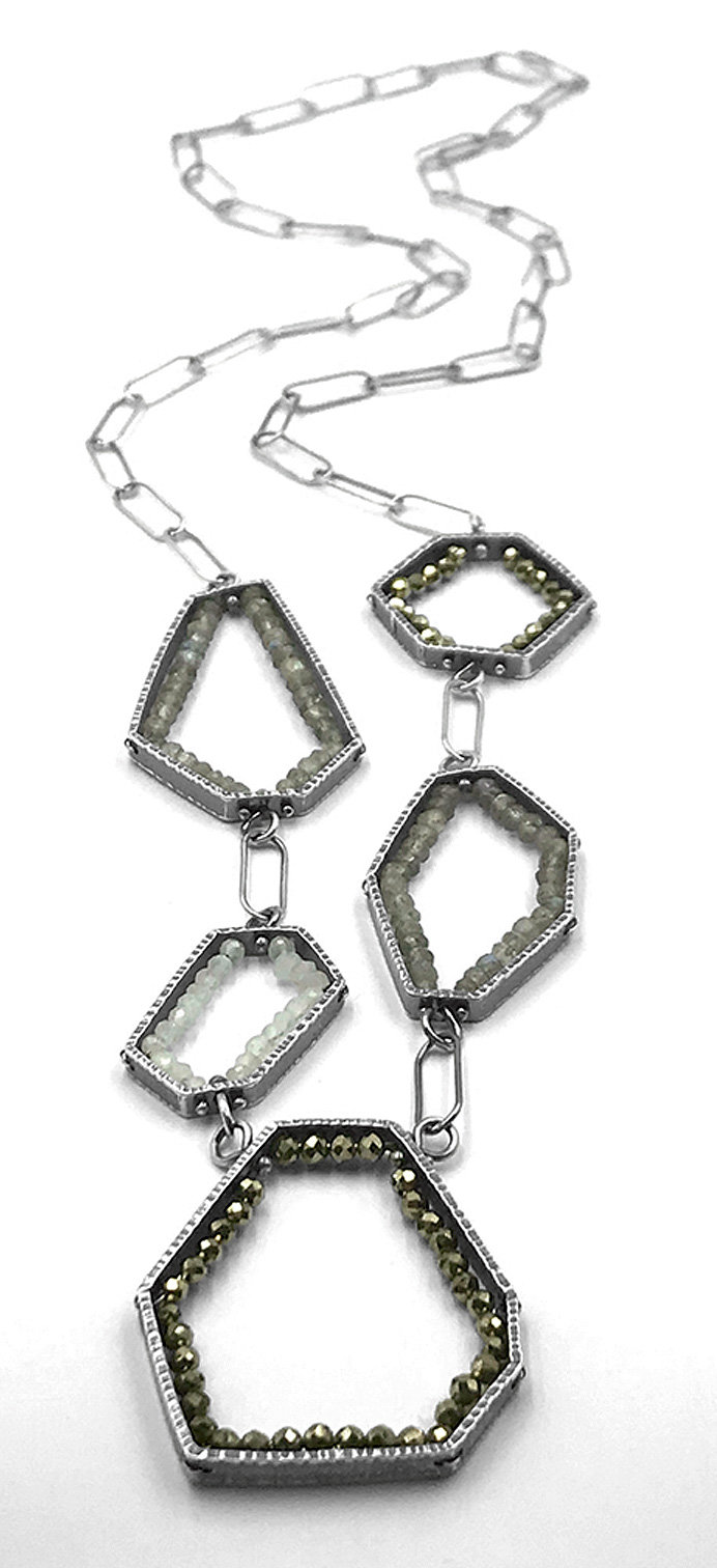 Geometric Geodes Necklace
