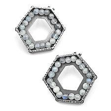 Geometric Geode Earrings by Erica Stankwytch Bailey (Silver & Stone Earrings)