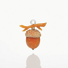 Autumn Gold by Margaret Neher (Art Glass Ornament)