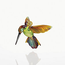Hummingbird by WGK Glass (Art Glass Ornament)