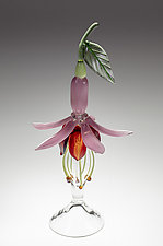 Fuchsia Perfume Bottle by Loy Allen (Art Glass Perfume Bottle)