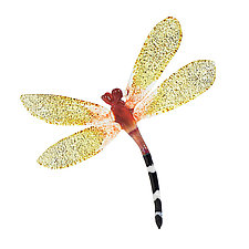 Gilded Glider by Loy Allen (Art Glass Ornament)