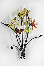 Wildflower Bouquet by Loy Allen (Art Glass Wall Sculpture)