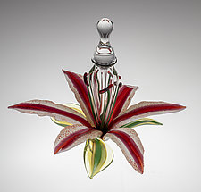 Lily Perfume Bottle by Loy Allen (Art Glass Perfume Bottle)